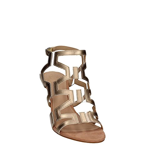 Vestir Cyarra EU Piel 39 Sandalias Beige Guess de de Mujer para Beige t7wnZq