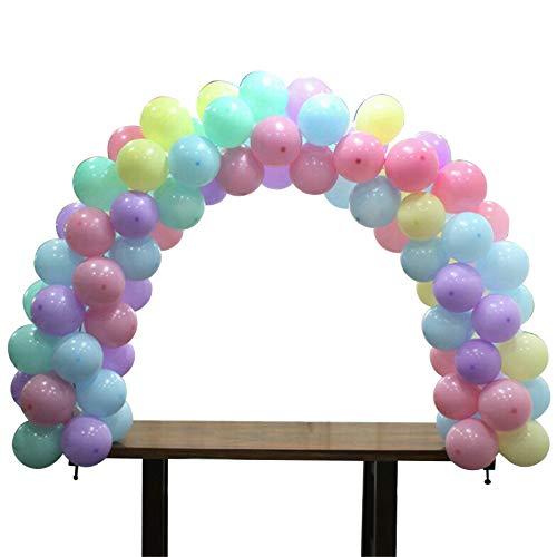 Skoloo Balloon Arch Kit, Adjustable Table Balloon Garland kit, Double Angle & 15FT Total Length for Weddings & Birthday & Unicorn Favor Party -
