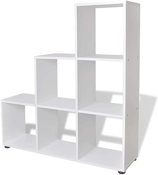 vidaXL Estantería para Libros en Forma de Escalera con Dimensiones ...