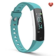 YoYoFit Slim Fitness Tracker HR, Waterproof Activity Tracker Fitness Watch with Heart Rate Monitor, Wearable Sleep Tracker, Calorie Counter, Pedometer Smart Watch for Women Men and Kids
