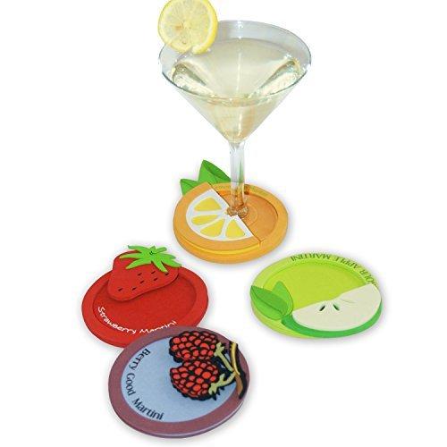 Drinkwear Martini Favorites EVA Packaged Coaster Set of 4
