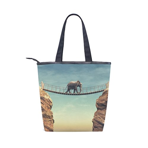 Wooden Elephant Canvas MyDaily Handbag Womens Bridge Bag Tote Shoulder HA11qF