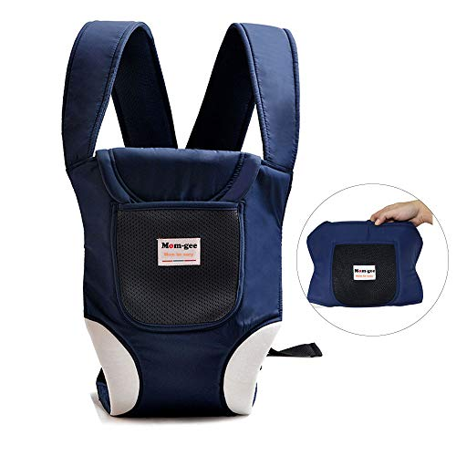 Rungee Portable Baby Carrier, Lightweight 5-in-1 Soft Multi Adjustable Ergonomic Sling Backpack Front-Carry Carrier (Blue)