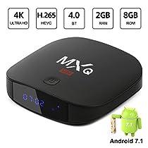 Superpow – [2018 Ultima Generazione] MXQ MINI Android 7.1 TV Box di 2GB RAM+8GB ROM Smart TV Box con BT 4.0 / HD / H.265 / 4K / 3D