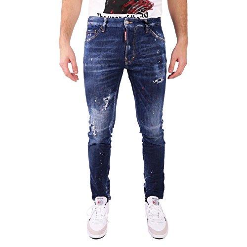 DSQUARED2 Men's S74lb0330s30342470 Blue Cotton Jeans (Dsquared2 Men Pants)