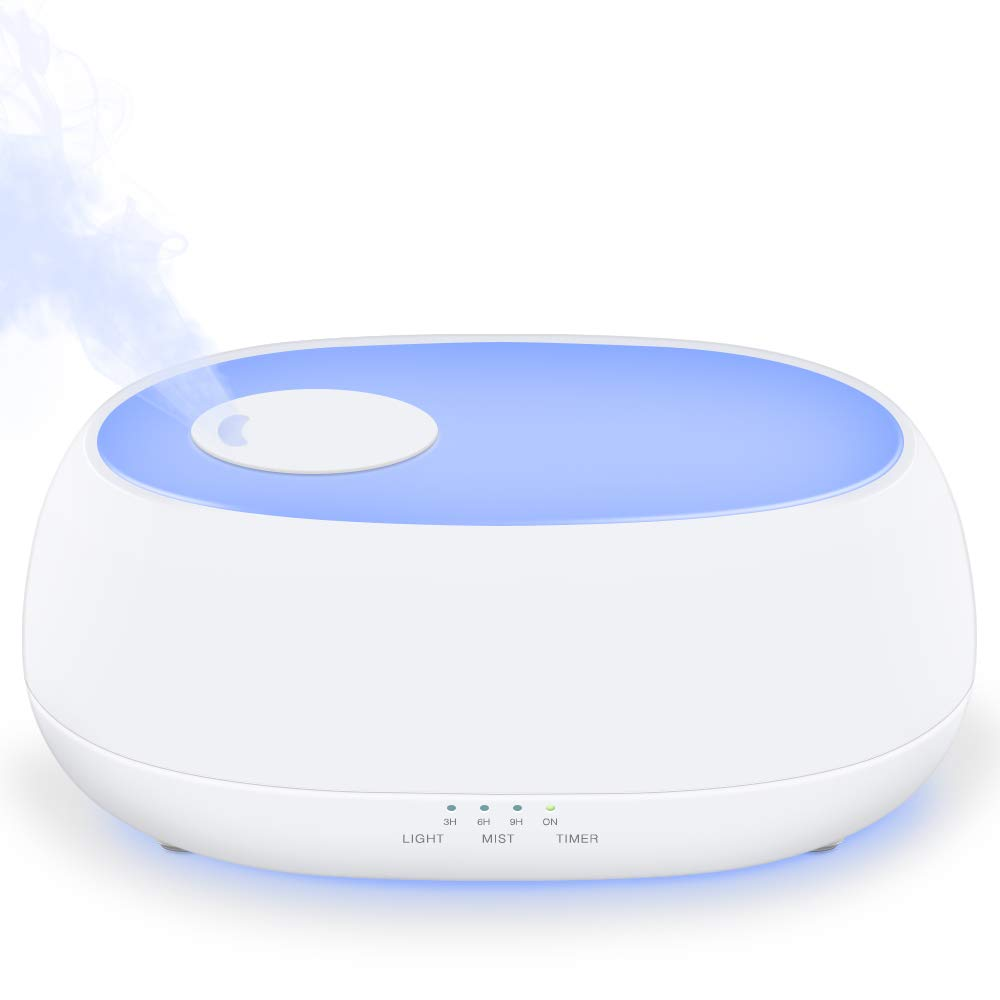 MADETEC Cool Mist Humidifier Ultrasonic Humidifiers Aromatherapy Diffuser for Baby, Bedroom, Office with 7 Night Light,Adjustable Mist Levels, Timer, Waterless Auto Shut-off (1L) by MADETEC