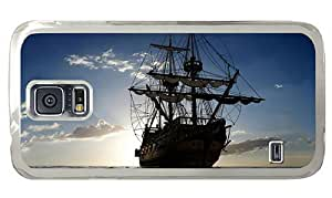 Hipster top Samsung Galaxy S5 Cases sailing ship ocean PC Transparent for Samsung S5
