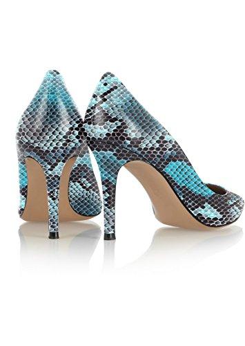 Blue tacco spillo Python a Donna Soireelady Tacco da Scarpe Scarpe donna col Scarpe wPwX7Oqz