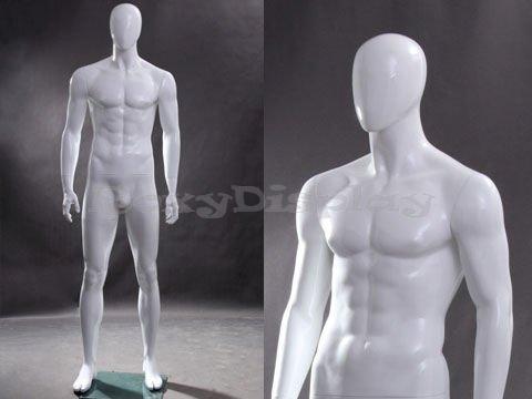 (MZ-Wen4eg) White Egghead Male Mannequin Standing Pose