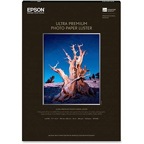 "Epson Ultra Premium Photo Paper Luster 11.7 x 16.5""  - 50 sh"