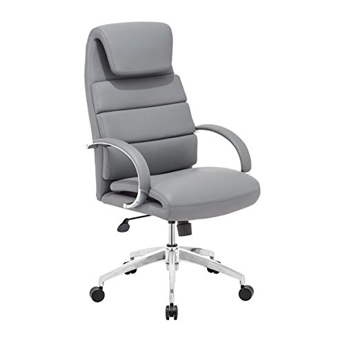 Lider Leather - Zuo Lider Comfort Office Chair, Gray