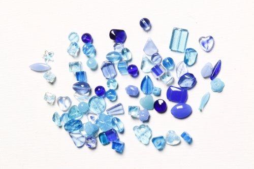 Multi Blue Glass Bead - 4