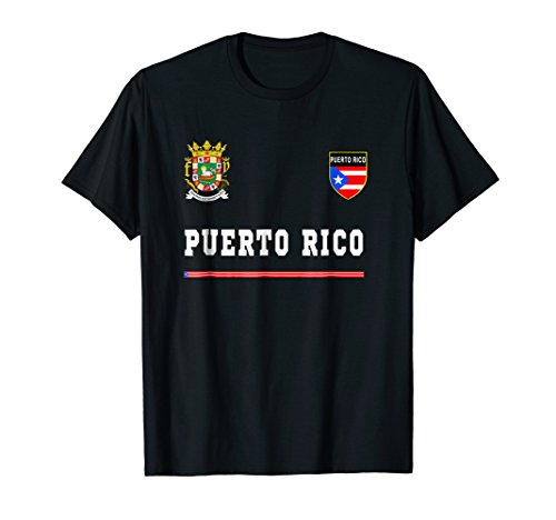 Puerto Rico T-shirt Sport/Soccer Jersey Tee Flag Football