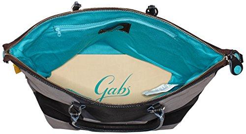 GabsG3 - Bolso de mano Mujer Gris (Bfg)