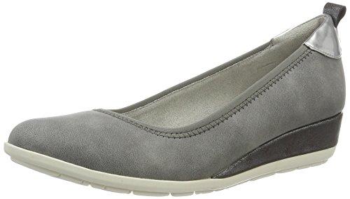 s.Oliver 22302, Zapatos de Tacón para Mujer Gris (GRAPHITE 206)