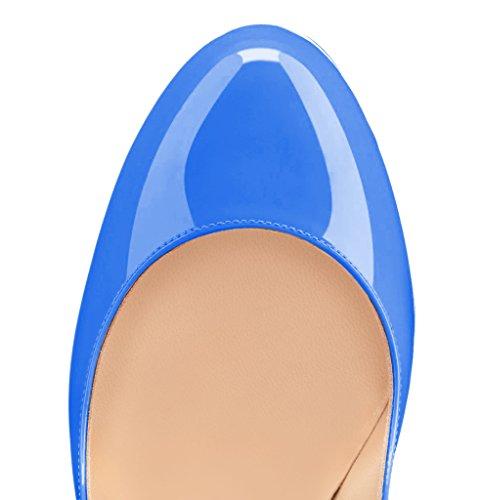 Guoar - Cerrado Mujer Blau Lackleder