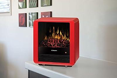Dimplex Mini Cube Electric Stove, DMCS13R, Red