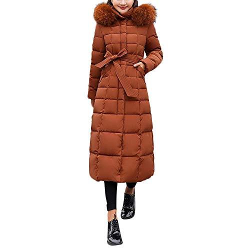 Giacca imbottita le Moda selvaggia Cappotto in per cachi attillata donna casual lunga donne cotone Cappotti pelliccia So8ooa imbottito in Tasca xwCqTB00X