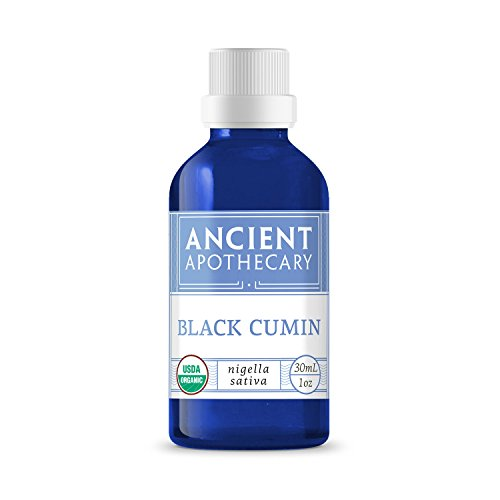 Black Cumin Organic Essential Oil from Ancient Apothecary, 15 mL - 100% Pure and Therapeutic (Cumin Seed Essential Oil)