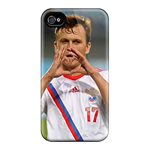 Fashion Protective Denis Cheryshev Russian National Team Player On The Field Case Cover For Iphone 4/4s