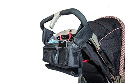 Best Stroller Organizer for Moms! Fits all Strollers, Zip off Pouch, Removable Shoulder Strap, Deep Cup Holders, Mesh Bag for Extra Storage! Superior Quality. 100% Lifetime Guarantee! by JFSG Enterprises LLC