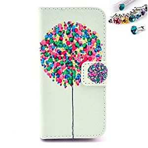 LCJ A Lot Of Balloons Pattern PU Leather Full Body Case with Card Slot and Stand for iPhone 5/5S