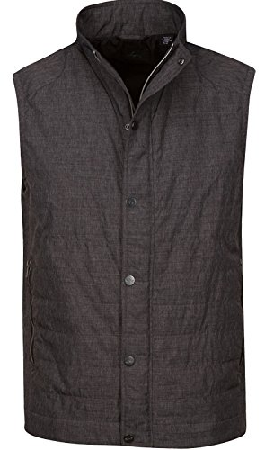 Greg Norman Feather Weight Quilted Vest, Black, Large by Greg Norman
