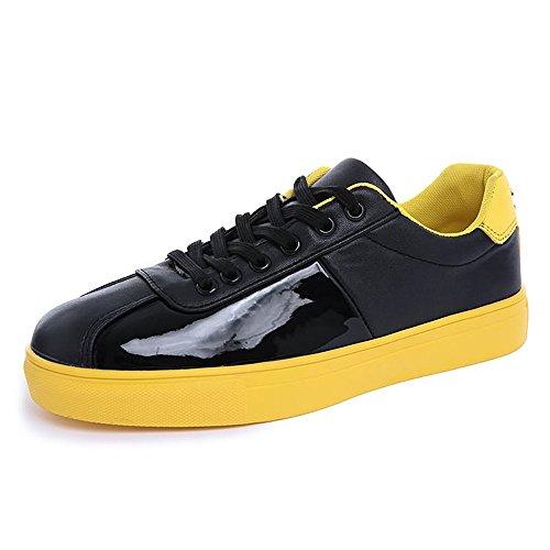 Giallo da Dimensione tacco Color pelle con 41 casual unita uomo basso Scarpe in Giallo tinta EU shoes Xiaojuan verniciata UpqSU