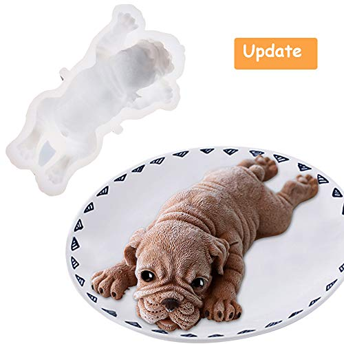 - Silicone Molds for Baking Dog Shape Cake Topper Shar Pei Cake Mold - Food Grade DIY 3d Candle Chocolate Pudding Ice Cream Fondant Mold - Mousse Cake Decorating Mould Easy Demould (Generation 2)