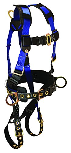 FallTech 7073SM Foreman Full Body Harness with 3 D-Ring and Tongue Buckle Leg Straps, Small/Medium by FallTech