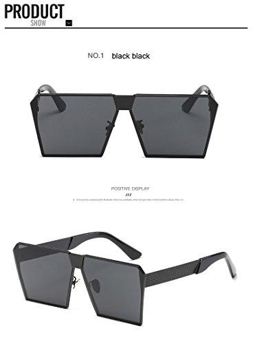 Fashion Brand Designer Square Flat Top Sun Glasses Mirror Women Sunglasses Men Eyeglasses Hip Hop big Frame Lady Male ce - Brands Sunglass Designer