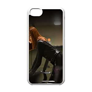 iPhone 5c Cell Phone Case White Black Widow Scarlett Johansson Face Film T9N2LV