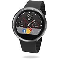MyKronoz ZeRound2 Smartwatch Circular Color Touchscreen (Black/Black)