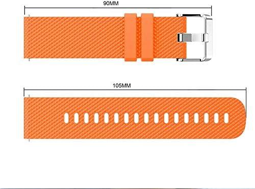 Chainfo Bracelet de Montre 22mm, Bracelet de Remplacement Bande de Montre en Silicone (22mm, Sarcelle + Blanc)