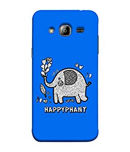 ColorKing Samsung J5 2015 Case Shell Cover - Happyphant Multi Color
