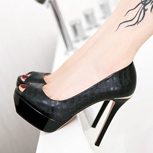 Shoes Simple Single LY Fine Heeled with Shoes A High Waterproof Temperament qTw7Zz