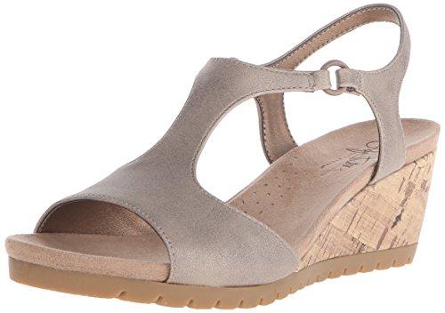 LifeStride Women's Now Wedge Sandal, Champagne, 9 M - Womens Sandal Comfort