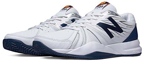 New Balance Mens Cushioning Tennis Shoe  White Blue  10 5 4E Us