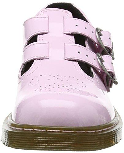 Dr. Martens 8065 J, Sandalias con Tira Vertical infantil Rosa (Pink Patent Lamper)