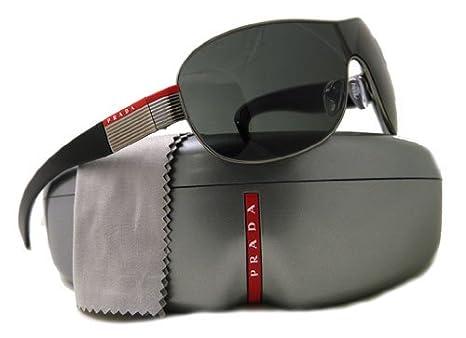 a58a1420e4 Brand New Men s Prada Gunmetal Grey Silver SPS 54H 5AV1A1 Sport ...