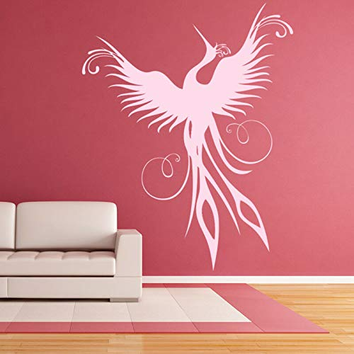 (N.SunForest Phoenix Rising Wall Sticker Mythical Birds Wall Decal Kids Bedroom Home Decor)