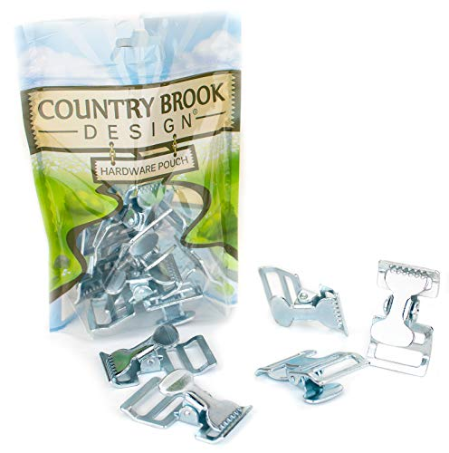 50 - Country Brook Design - 1 Inch Zinc Plated Alligator Clip Spring Action Buckle