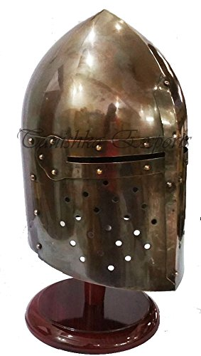 [Medieval Sugarloaf Helmet Kinght Armor Helmet Costume Wearable Spartan Helmet] (Spartan Princess Costumes)