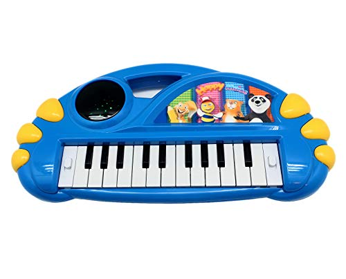 Mini Toy Piano Keyboard for Kids - Best Gift Idea for Your Little Pianist - 2 Play Modes, Lights & Music ~ Fun Toy (Blue)