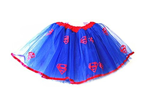 Rush Dance Superhero Halloween Girls DressUp Princess Fairy Costume Recital Tutu (Superman)