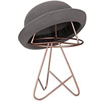 MyGift Copper-Tone Metal Wire Tabletop Hat Stand Display