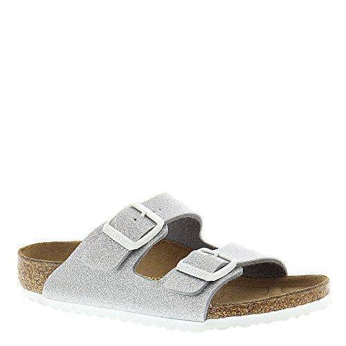 Birkenstock Arizona Cork Footbed Sandal (Toddler/Little Kid/Big Kid), Magic Galaxy Silver, 34 EU(3-3.5 M US Big Kid)