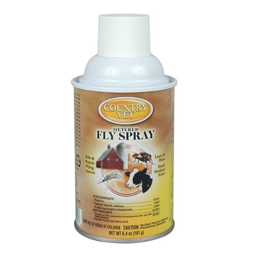 Mist Dispenser Automatic (Country Vet Metered Fly Control Spray, Refill, 30 Day Supply)