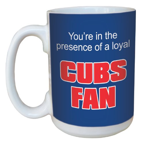 Tree-Free Greetings lm44081 Cubs Baseball Fan Ceramic Mug with Full-Sized Handle, 15-Ounce ()