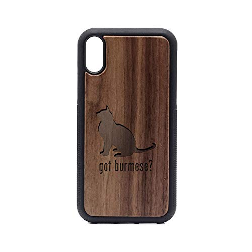- Animal Got Burmese Cat - iPhone XR Case - Walnut Premium Slim & Lightweight Traveler Wooden Protective Phone Case - Unique, Stylish & Eco-Friendly - Designed for iPhone XR